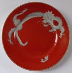 Červený talířek s čínským drakem - Rosenthal