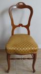 Židle v ořechové dýze, pozdní biedermeier