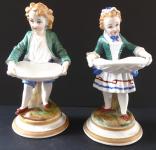 Chlapec a dívka, s ošatkami - Fischer & Mieg, Březová