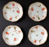 Čtyři mističky, zlacený a červený ornament - Rosenthal