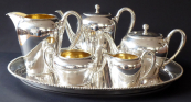 Stříbrný čajový a kávový servis - Wilhelm Binder, Schwäbisch Gmünd