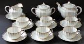 Čajový porcelánový zlacený servis - Verbilki, Dmitrov, Rusko