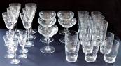 Nápojové skleničky s art dekovým ornamentem - 28 ks