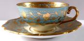 Moka šálek, žlutý a fialový kvítek - Slavkov