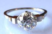 Prsten z bílého zlata - Briliant 1,85 ct