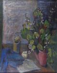 Dagmar Bromová - Zátiší s květinami v konvici
