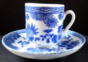Moka šálek s modrým čínským vzorem