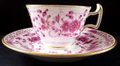 Kávový šálek s růžovým ornamentem - Míšeň
