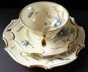 Šálek a dezertní talířek, rokokový styl - Bareuther