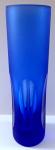 Modrá vázička s broušenými ovály