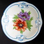 Dóza s modrými linkami a malovanými květinami - Anton Weidl
