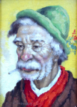Josef M. Černovický - Portrét muže s cigaretou