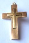 Zlatý přívěsek, kříž - Biedermeier