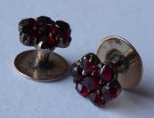 Granátové manžetové knoflíky - slitina se zlatem