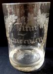 Broušená sklenice z roku 1860
