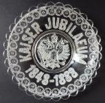 Jubilejní skleněný talířek - František Josef I.