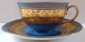 Modrý moka šálek, zlacený pás - Johann Haviland a Rudolf Wächter