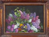 Monogram M. Š. - Šeříky, tulipány a macešky