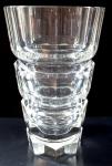 Křišťálová broušená váza, s prstenci