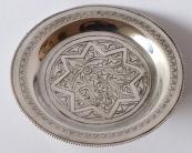 Stříbrná egyptská miska s ornamentem