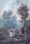 Charles Melchior Descourtis - Venkovská slavnost
