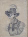 Creutzkamp - Portrét, v klobouku s chocholem