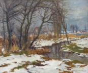 Alois Janeček Pardubský - V zimě u potoka
