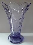 Art deko váza z fialového skla