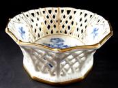 Košíček s kobaltovými růžemi - Schumann, Arzberg
