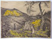 Emil Josef Nečas - Dívky v krajině se žlutými keři