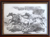 Emil Kotrba - Tři běžící koně