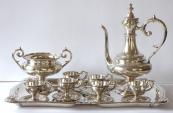 Stříbrná kávová souprava - Victor Nuber, Vídeň