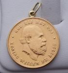 Přívěsek, zlatá mince - Willem III. , Nizozemí