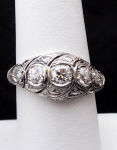 Briliantový prsten z platiny - 0,60 ct
