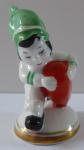 Holčička v zelené čepici, červené srdce - Slavkov