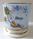 Hrneček s větvičkou a květy ze skleněných perliček - Steyer