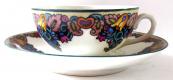 Dekorativní malovaný šálek s podšálkem - Alois Jaroněk