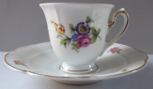 Moka šálek s barevnými květinami - Rosenthal, Bavaria