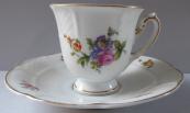 Kávový malý šálek s barevnými květinami - Rosenthal, Bavaria