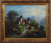 Zámeček v horské krajině
