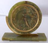 Stolní hodiny, světle zelený mramor