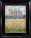 Antonín Bílek - Obilné pole s listnatými stromy