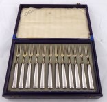 Menší stříbrné příbory pro 12. osob - Bruckmann & Söhne, Heilbronn