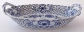 Porcelánový oválný košíček, cibulový vzor - Teichert, Míšeň