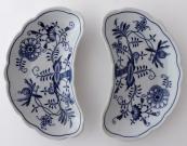 Dvě misky, cibulový vzor - Teichert, Míšeň