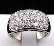 Prsten z bílého zlata, šestnáct briliantů 1,40 ct