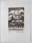 Jindřich Pileček - Ex libris ing. J. K.