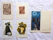 Miroslav Houra - 4x Ex libris, 1x PF 1978
