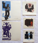 Miroslav Houra - 3x Ex libris, PF 1978, PF 1979