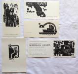 Miroslav Houra - PF 1976, 2 x PF 1979, Ex libris, Pozvánka Hollar